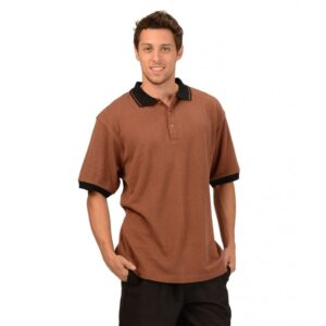 Men's Hemp Short Sleeve Rugby T-shirt