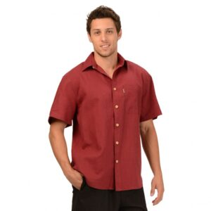 Men's Hemp/OC Short Sleeve Button Shirt