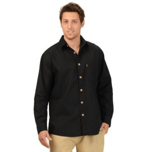 Men's Hemp Long Sleeve Muslin Shirt