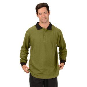 Men's Hemp Long Sleeve Rugby Shirt