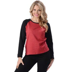 Women's Hemp Raglan Long Sleeve T-shirt