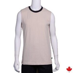 Men's Hemp Sleeveless Ringer T-Shirt
