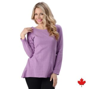 Women's Hemp Long Sleeve Fluid Top