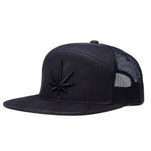 Black Leaf Arch Trucker Cap