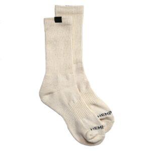Men's Hemp Label Crew Socks