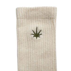 Men's Hemp Leaf Logo Crew Socks